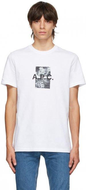 White Graphic Teddy T-Shirt A.P.C.. Цвет: aab white
