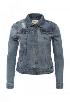 Куртка джинсовая Brave Soul. Цвет: синий