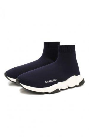 Текстильные кроссовки Speed Balenciaga. Цвет: синий