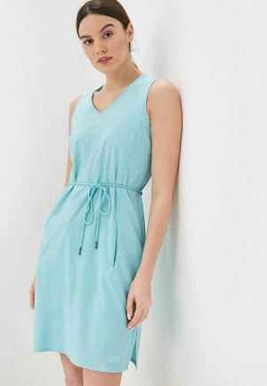 Платье Jack Wolfskin TIOGA ROAD DRESS. Цвет: бирюзовый