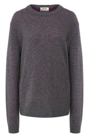 Кашемировый пуловер Acne Studios. Цвет: серый