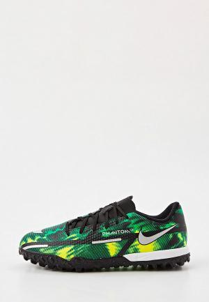 Шиповки Nike JR PHANTOM GT2 ACADEMY SW TF. Цвет: зеленый
