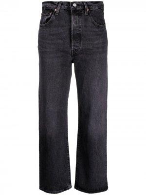 Levis прямые джинсы Ribcage с завышенной талией Levi's. Цвет: черный