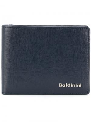 Классический бумажник Baldinini. Цвет: синий