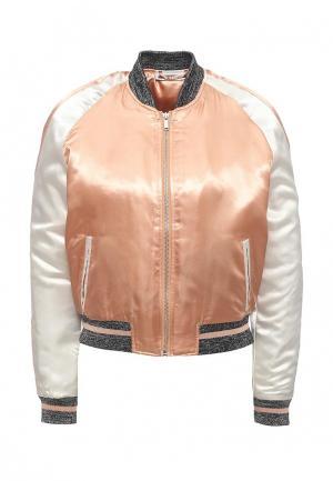 Куртка утепленная Noisy May. Цвет: коралловый