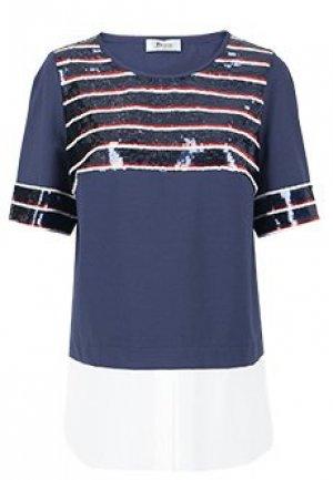 Блуза MARIA GRAZIA SEVERI. Цвет: синий