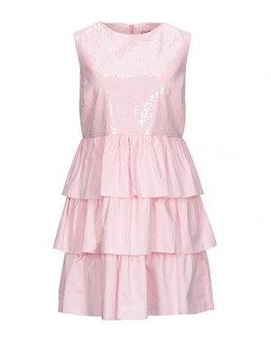 Короткое платье KAOS JEANS. Цвет: розовый