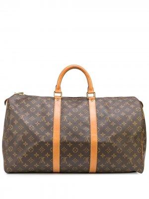 Дорожная сумка Keepall 50 pre-owned Louis Vuitton. Цвет: коричневый
