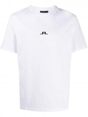 Футболка с логотипом J Lindeberg. Цвет: белый