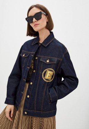 Куртка джинсовая Ermanno Firenze. Цвет: синий