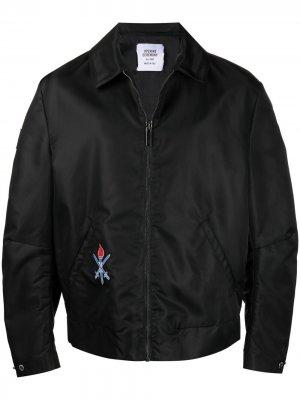 Куртка на молнии с вышивкой Opening Ceremony. Цвет: черный