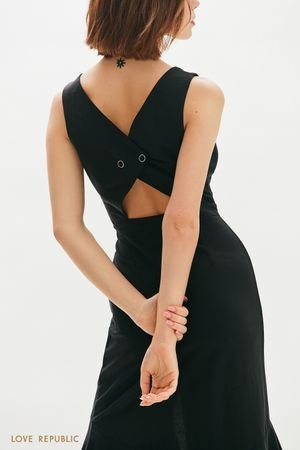 Асимметричное платье длины миди LOVE REPUBLIC