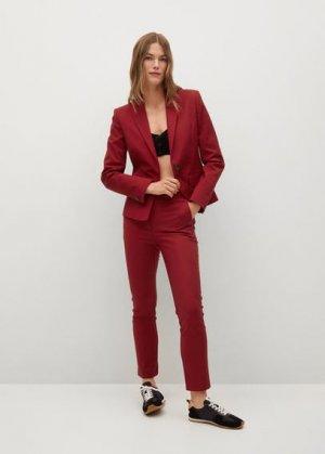 Структурированный костюмный пиджак - Cofi7-a Mango. Цвет: гранатовый