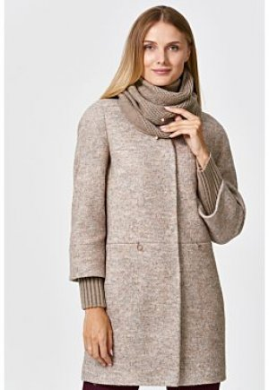 Полушерстяное пальто с шарфом Elema
