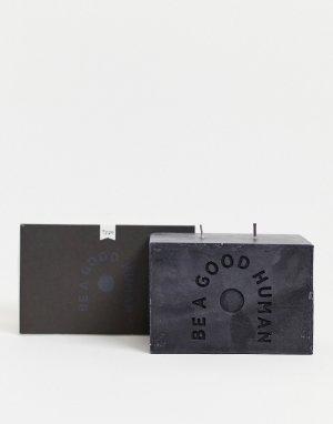 Прямоугольная свеча с надписью Be a Good Human Typo-Черный цвет TYPO