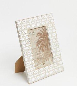 Современная фоторамка с принтом Ибицы -Коричневый цвет Sass & Belle