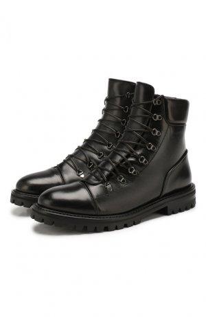 Кожаные ботинки Alaia. Цвет: черный