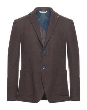 Пиджак ALESSANDRO GILLES. Цвет: темно-коричневый