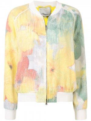 Полупрозрачная куртка-бомбер 3.1 Phillip Lim. Цвет: желтый