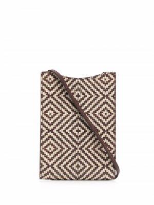 Плетеная сумка через плечо A.P.C.. Цвет: коричневый