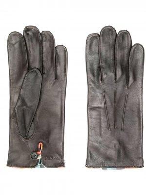 Перчатки с тисненым логотипом PAUL SMITH. Цвет: коричневый