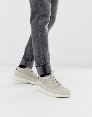 Белые спортивные кроссовки на массивной подошве kiowa-Белый Clarks Originals