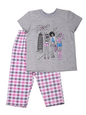 Пижама Flip. Цвет: серый, розовый