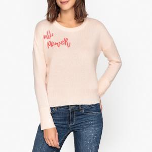 Пуловер из кашемира AARON BERENICE. Цвет: бледно-розовый