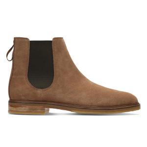 Ботинки-челси кожаные Clarkdale Gobi CLARKS. Цвет: оливковый,темно-бежевый