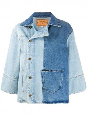 Джинсовая куртка в стиле колор-блок McQ Alexander McQueen. Цвет: синий