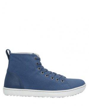 Высокие кеды и кроссовки BIRKENSTOCK. Цвет: синий