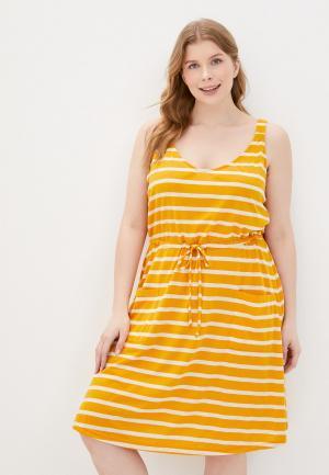 Платье Junarose. Цвет: желтый