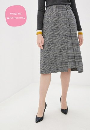 Юбка VASSA&Co. PIN CODE. Цвет: серый