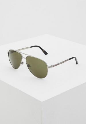 Очки солнцезащитные Gucci GG0137S003. Цвет: серебряный