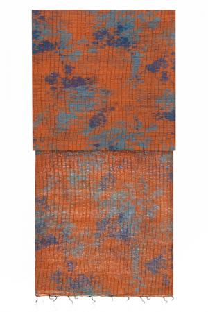 Палантин Michel Katana. Цвет: оранжевый, синий, голубой