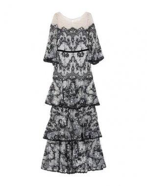 Длинное платье MARCHESA NOTTE. Цвет: черный