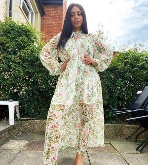 Платье мидакси с цветочным принтом -Мульти Forever U Curve