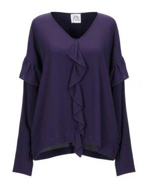 Блузка ATTIC AND BARN. Цвет: фиолетовый