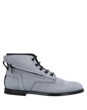 Полусапоги и высокие ботинки BRUNO BORDESE. Цвет: светло-серый