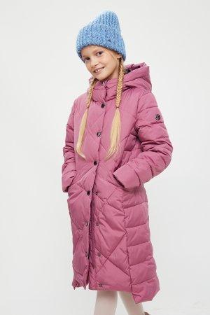 Пальто для девочки Finn-Flare. Цвет: вишневый