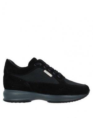 Низкие кеды и кроссовки HENNE. Цвет: черный