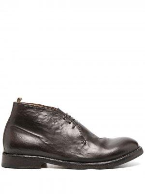Ботинки дезерты на шнуровке Officine Creative. Цвет: коричневый