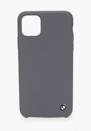 Чехол для iPhone BMW 11 Pro Max, Signature Liquid silicone Dark grey. Цвет: серый
