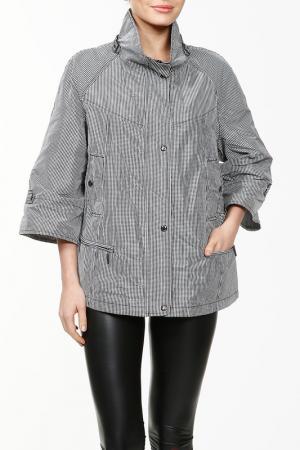 Куртка NAKAD. Цвет: черный, белый, клетка