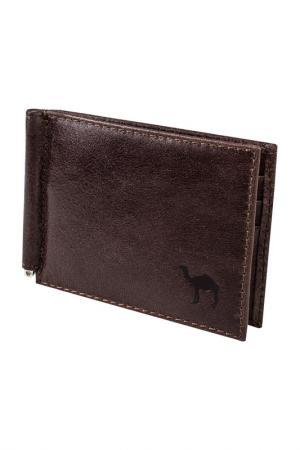 Зажим для денег Dimanche. Цвет: коричневый