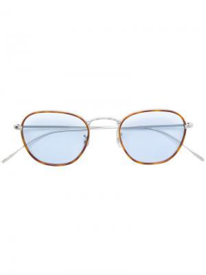 Square frame glasses Oliver Peoples. Цвет: коричневый