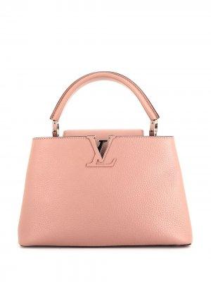 Маленькая сумка-тоут Capucines 2018-го года Louis Vuitton. Цвет: розовый