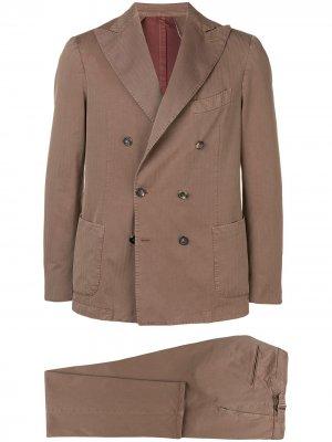 Delloglio костюм-двойка с двубортным пиджаком Dell'oglio. Цвет: нейтральные цвета