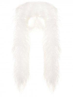 Шаль с отделкой перьями 16Arlington. Цвет: белый