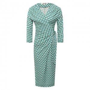 Шелковое платье Diane Von Furstenberg. Цвет: зелёный
